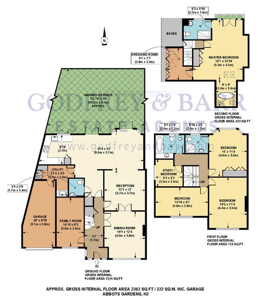 Godfrey Barr Estate Agents Floorplan Abbots